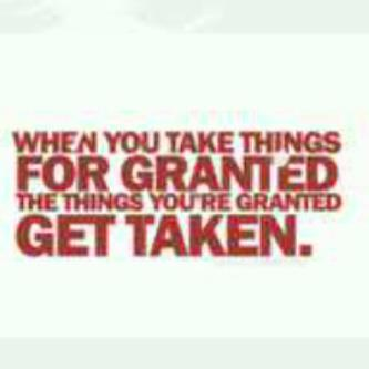 For granted - Get Taken
