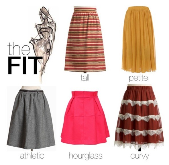 Skirt With Body Shape