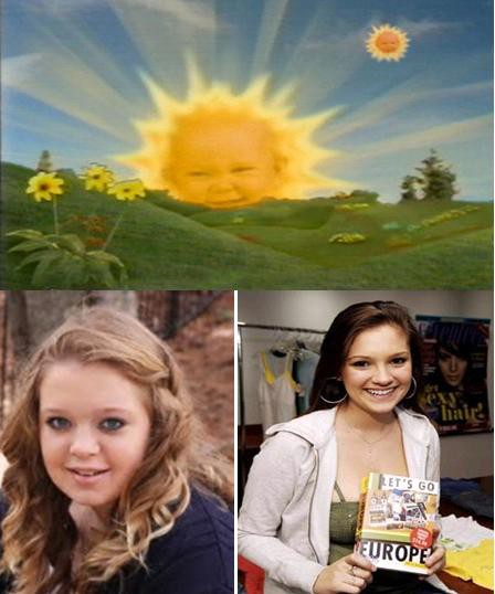 Teletubbies baby sun has grown up