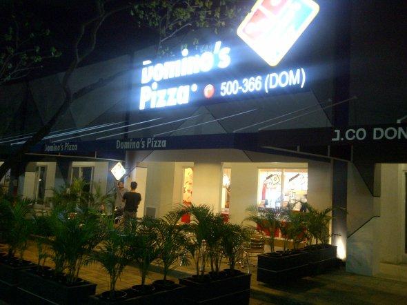 Domino's Pizza at Cikarang, Bekasi, Indonesia.