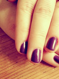 Dark purple by OPI nailspolish always be my favorite.