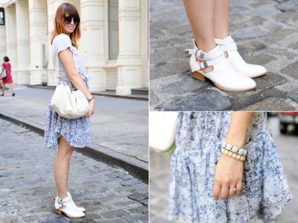 White casual sandal-shoes