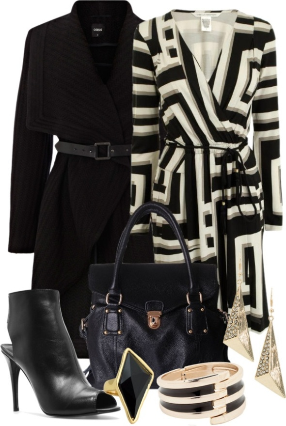 Black&White Geometric Style outfit.