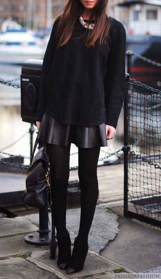 All black style & Love the textures!