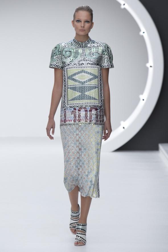 Mary Katrantzou Silver Geometric dress