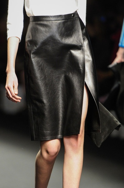 Leather Skirt from ALLUDE Spring 2013 Ready To Wear.