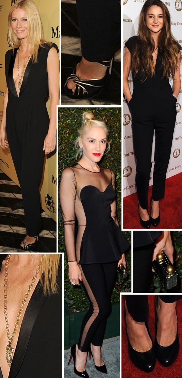 celebrity with their trending black jumpsuit.