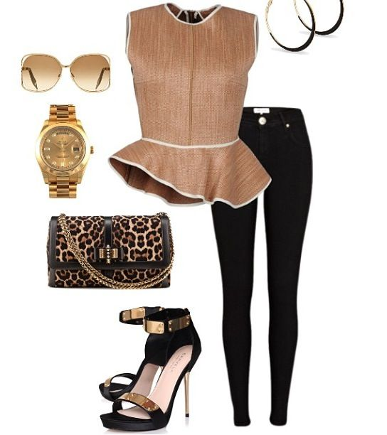 Peplum Style in a safari looks