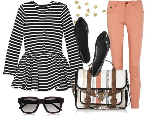 Peplum style in a casual way look