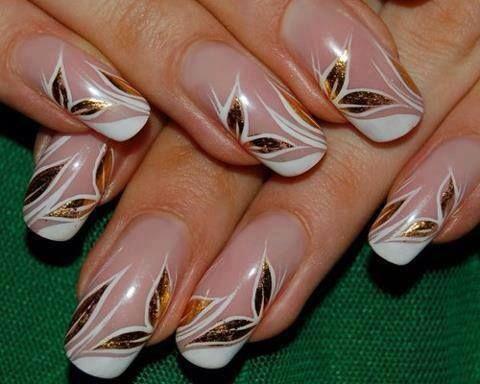 Nail flower art.