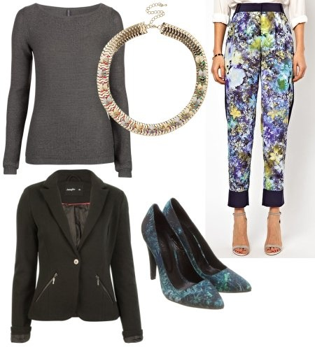 mix match the flower print pants style