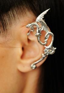 Rodarte Dragon metal ear cuff