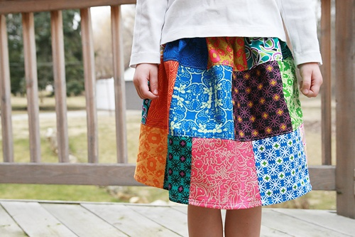 Sweet skirt patchwork