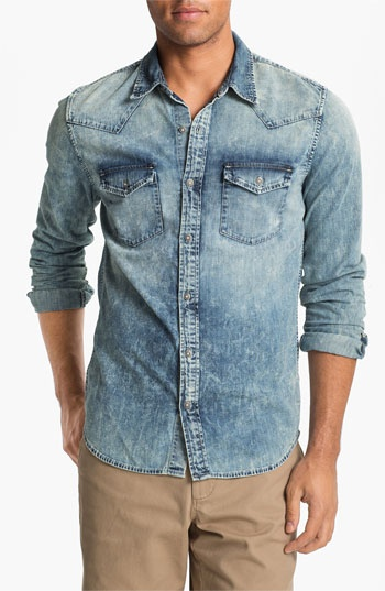 AG jeans slim fit westerner, this slim cutting shirt would make your body looooks GOOD!