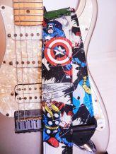 Captain america thor hulk comic guitar strap.