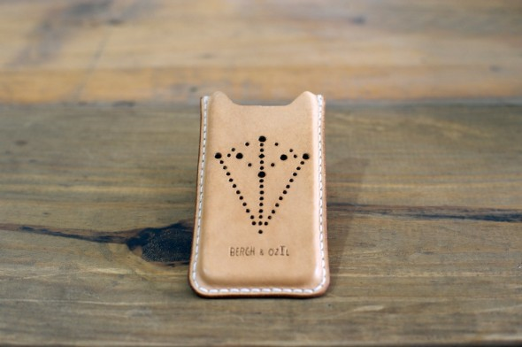 Limited Edition Medallion iPhone 5 Leather Sleeve.