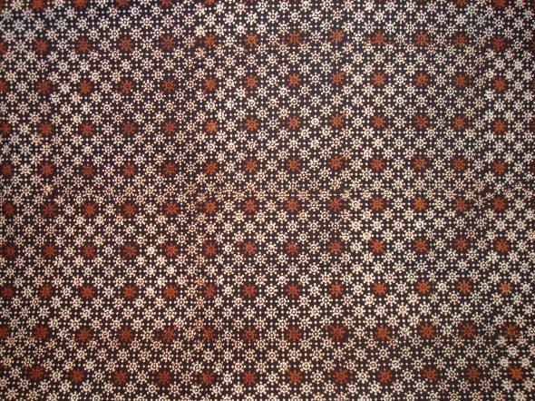 Sun pattern on Batik Cap cotton sogan (Batik cap motif matahari berbahan katun sogan)
