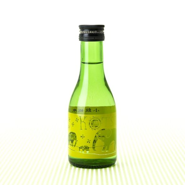 "A 180 milliliter bottle packed full of the flavor and depth of rice ""Kotsuzumi Elephant Label"""