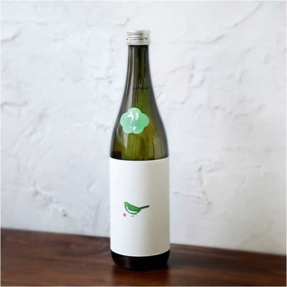 """Niwa no Uguisu"" (Garden Uguisu) A smooth sake with a lovely label featuring a Japanese bush warbler."