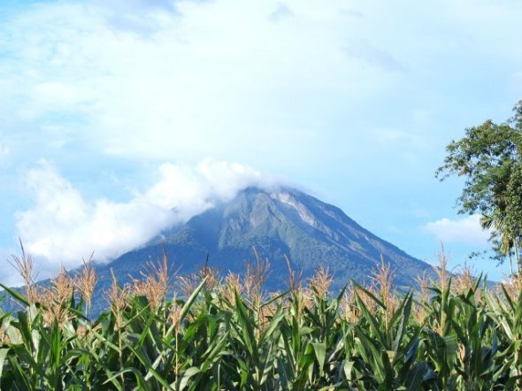 KARO : Mount Sinabung is the highest peak (2.460m) in North Sumatra.