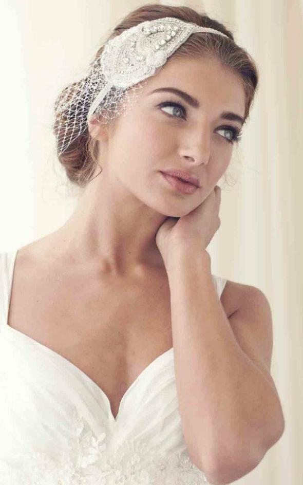 Netting Headpiece Bridal