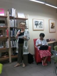 Mrs. Christel Mahnke - Kepala Bagian Informasi dan Perpustakaan Goethe-Institut Indonesien.